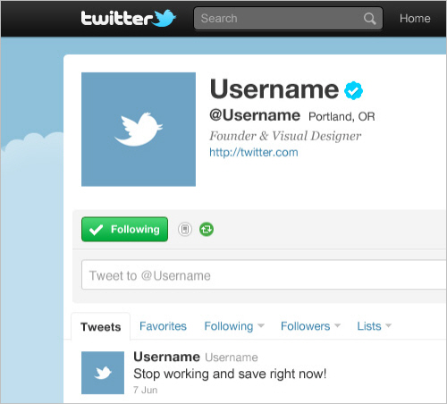 Free twitter gui psd smashing magazine table of contents updating your twitter profile pronofoot35fo Image collections