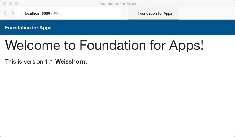 Creating A Complete Web App In Foundation For Apps