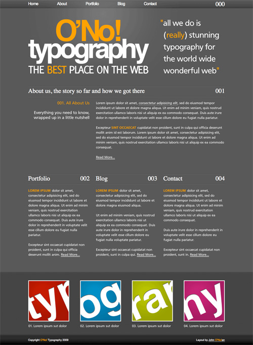 Type Layout For Free Download - O'No! Typography