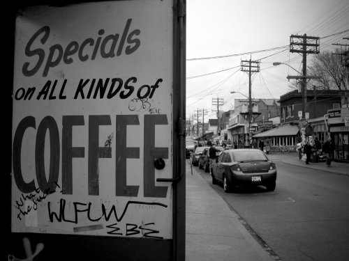 Wayfinding and Typographic Signs - coffee