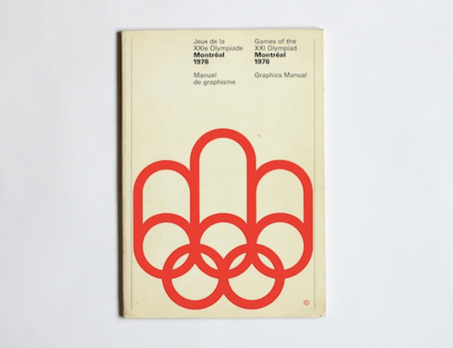 Cover of the Montreal Olympics Graphics Manual