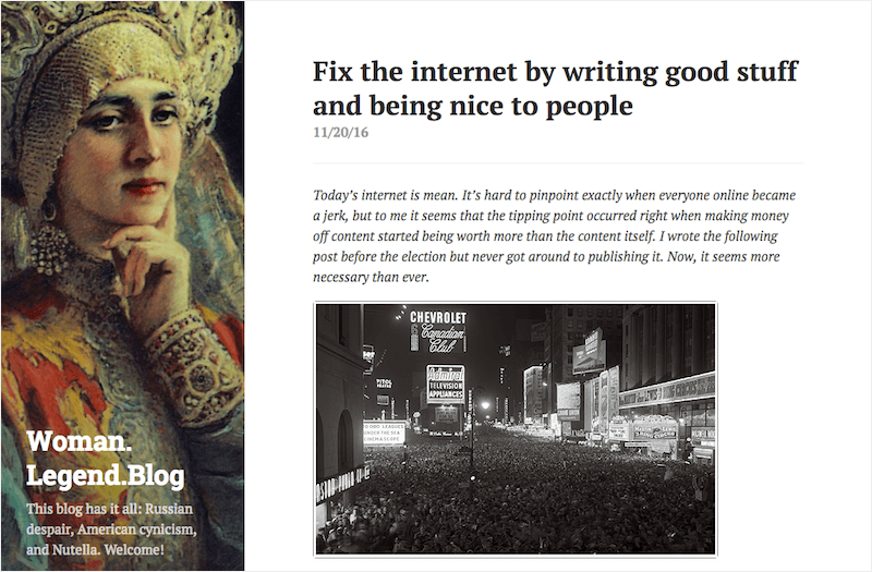 Fix the internet by writing good stuff and being nice to people