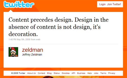 Zeldman on Content and Design