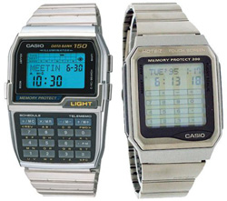 Tiny user input mechanism on Casio watches
