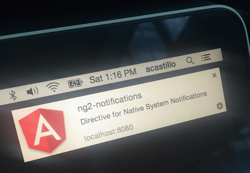 Send native web push notifications with Angular 2