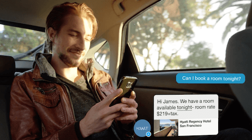 Facebook Messenger presentation: booking a hotel room on the go