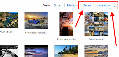Flickr Views Options
