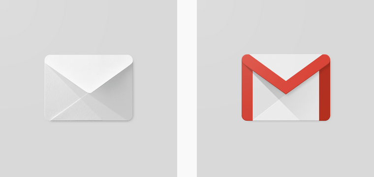 How the Gmail icon was derived from a conventional envelope
