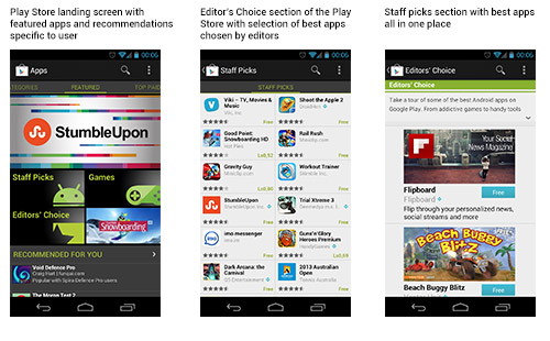 The new Google Play store offers more ways to discover cool new apps.