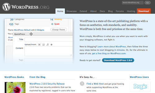 WordPress on Firefox