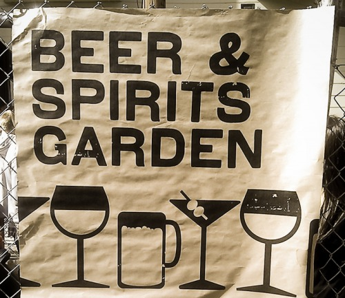Wayfinding and Typographic Signs - beer-sign