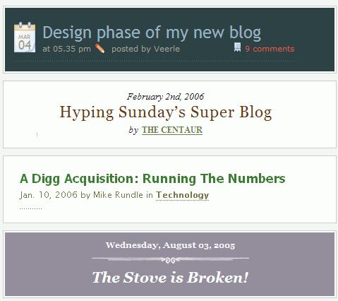Type Headlines
