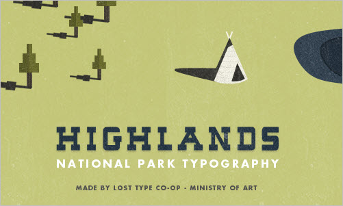 Highlands - A National Parks Inspired Slab-Serif