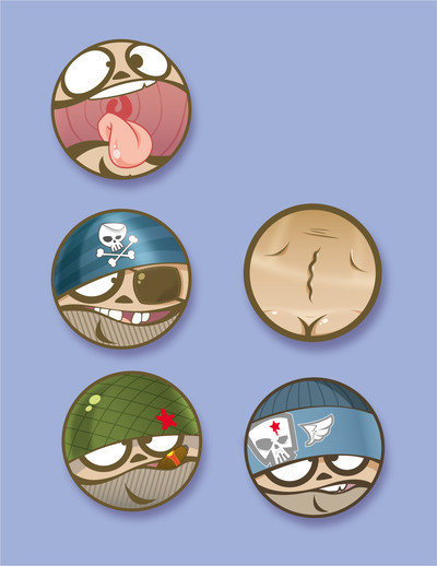 Pins, Badges and Buttons - buttons by ~scrape