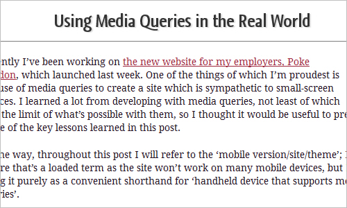 Using Media Queries in the Real World - Peter Gasston