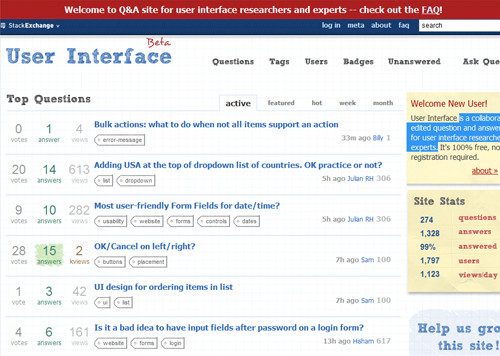 User Interface - Stack Exchange
