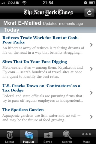 The New York Times iPhone App
