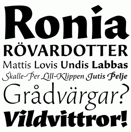 Professional Typefaces - Beorcana by Carl Crossgrove