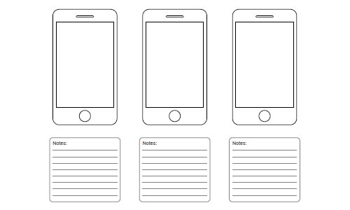 50 free ui and web design wireframing kits resources and for Storyboard template app