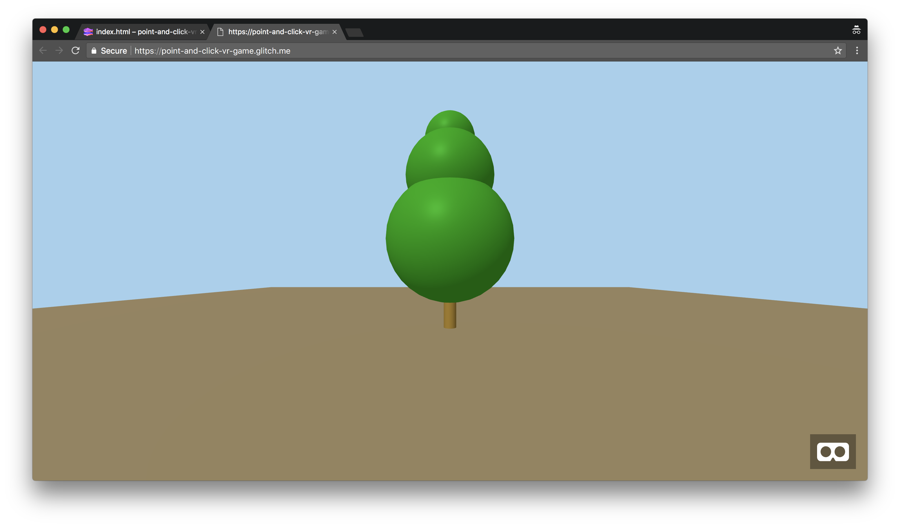 how to build a virtual reality model with a real time cross devicewhen navigating back to your preview, you will now be able to see a green