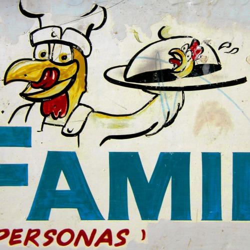 Wayfinding and Typographic Signs - chicken-restaurant