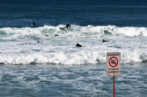 Wayfinding and Typographic Signs - dangerous-surfing