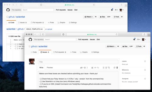 GitHub templates