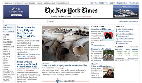 The New York Times website