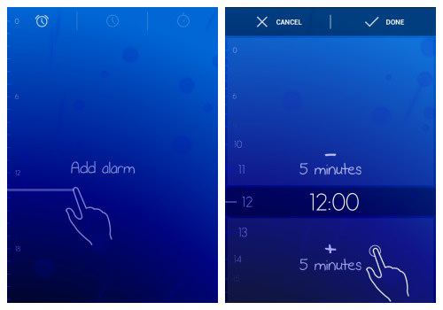 Guide users towards each gesture and the expected result.