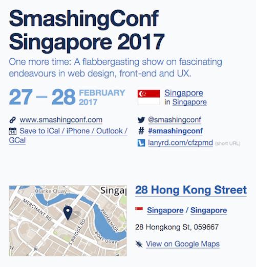 SmashingConf Singapore 2017