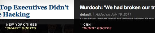 CNN vs. NYT