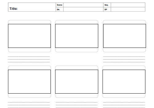 Free printable sketching wireframing and note taking pdf for Magazine storyboard template