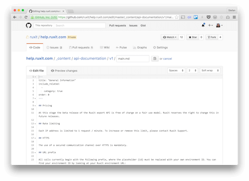 Github's source editing interface is close to a Markdown CMS.