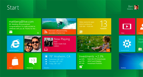 Microsoft Metro design in Windows 8
