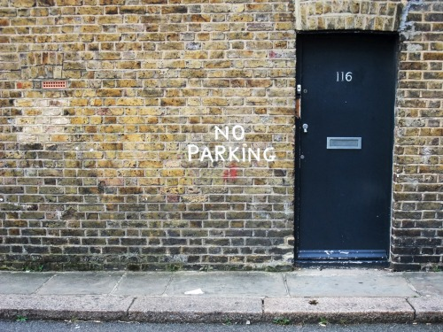 Wayfinding and Typographic Signs - no-parking