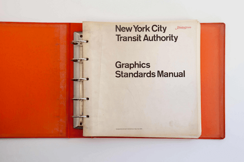 Cover of the New York City Transit Authority Design Manual
