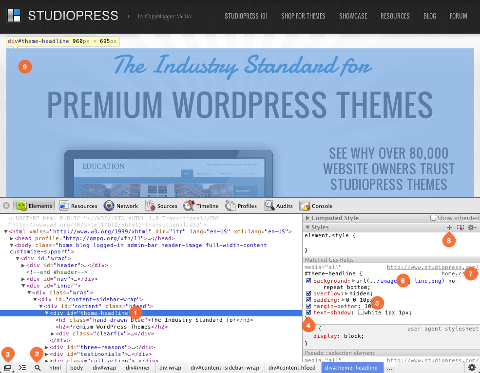 Screenshot Chrome Developer Tools