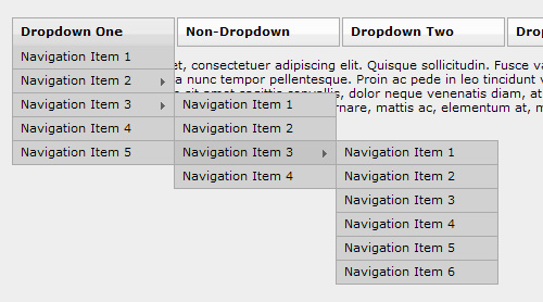 JavaScript Dropdown Menu with Multi Levels