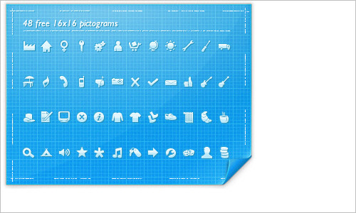 48 free 16×16 pictograms