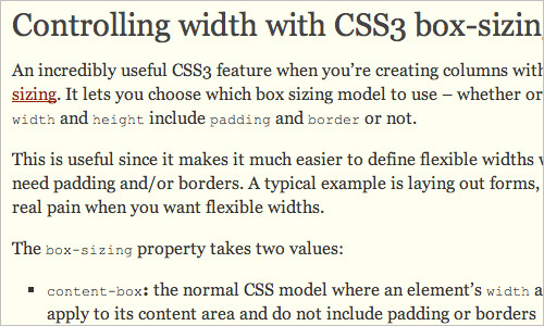 Controlling width with CSS3 box-sizing