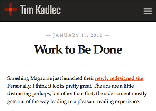 Tim Kadlec's article about SmashingMag's performance