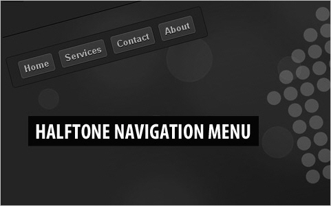 Halftone Navigation Menu With jQuery and CSS3
