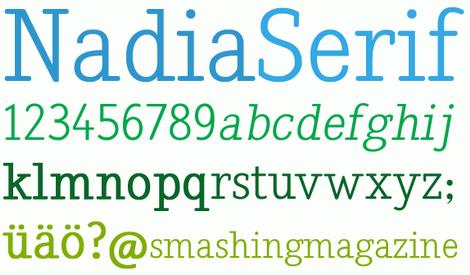 Nadia Serif Freefont