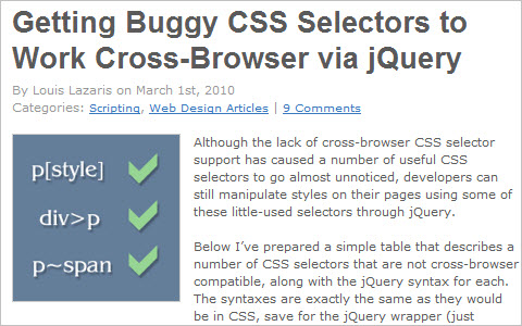Getting Buggy CSS Selectors to Work Cross-Browser via jQuery