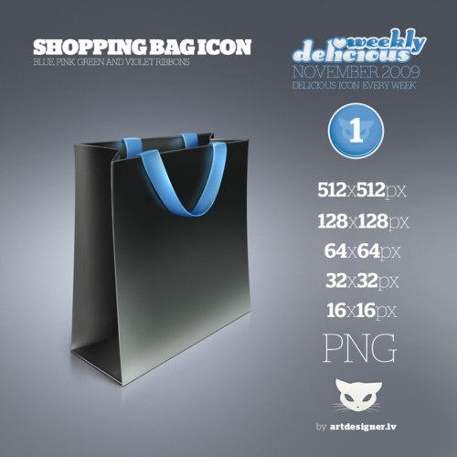 Free High Quality Icon Sets - Shopping bag icon - WD1