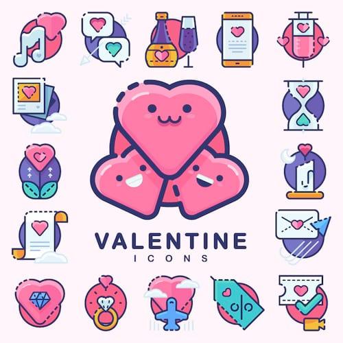 30 Sugar-Sweet Valentine's Day Icons [Freebie]