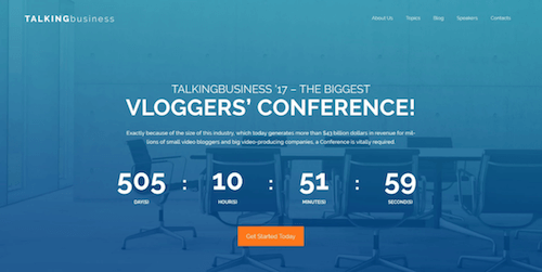Talking Business: Free Conference WordPress Template