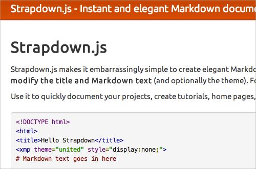 Strapdown.js
