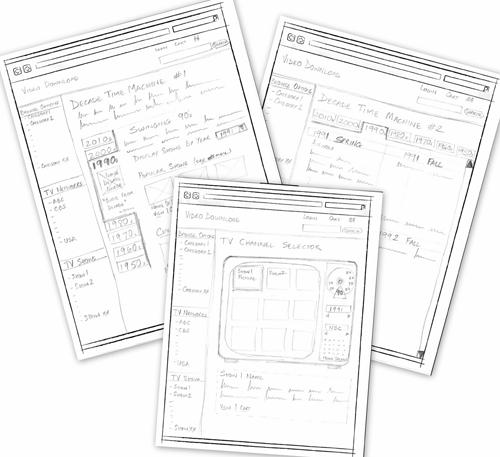 Examples of low fidelity prototypes