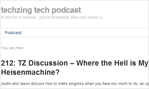 techzing tech podcast